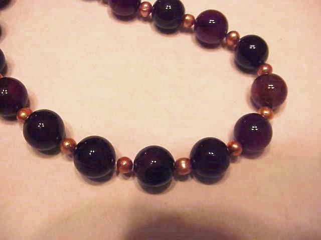 HANDMADE Black Agate &   orange FW Pearls  NECKLACE BIG BOLD TRENDY