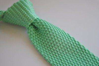 Pale Minzgrün Skinny gestrickt Krawatte mit weiß Spitze Frederick Thomas FT2027