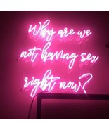 New Why Are We Not Having Sex Right Now Neon Sign Decor Acrylic Light 18... - $177.64