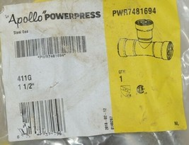 Apollo Powerpress Carbon Steel 411G 1 1/2 Inch Reducing Tee PWR7481694 image 2