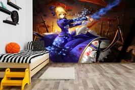 3D Mountain Stone Girl Waving C801 Japan Anime Game Wallpaper Mural Cart... - $34.64+