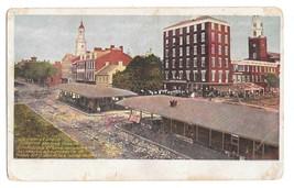 PA Old Market Sheds Centre Square Vntg PMC Postcard ca 1900 - $5.49