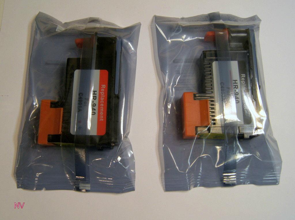 1 set of HP 940 (C4900A, C4901A) B/Y C/M print heads
