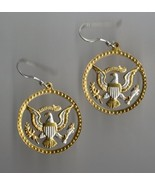 Kennedy half dollar (Eagle & Stars) gold and silver, cut coin jewelry e... - $120.00