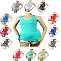 12Color Sexy Full Lace Racerback,Solid Front TANK TOP Scoop Neck Sleevel... - $6.99