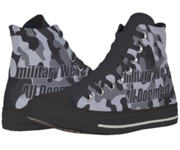Military Camouflage  Casual Canvas Shoes - $54.99