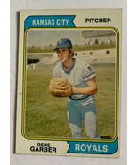 Topps 1974 Kansas City Royals Gene Garber Pitcher #431 Rookie Baseball Card - $8.59