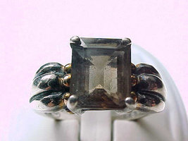 Vintage SMOKY TOPAZ Ring in Sterling Silver - Size 7 - $60.00