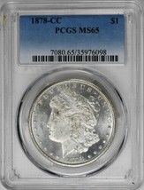 1878-CC $1 Morgan Dollar PCGS MS65 Semi-PL Blast White Rare Silver Coin ... - $1,225.00