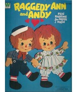 RAGGEDY ANN and ANDY Fun Fashions for Paper Dolls (1974) Whitman (unused) - $12.86