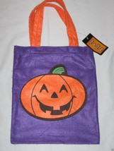 Pumpkin Jack O Lantern Halloween TRICK OR TREAT BAG Fabric Sack NEW - $1.50