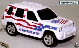 Rare Htf Key Chain Ring White Jeep Liberty Porte Cle New Limited Edition 1/64 R - $39.98