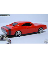 KEY CHAIN MOPAR DODGE CHARGER R/T 69/70 ORANGE BLACK & STRIPES CUSTOM KE... - $19.98