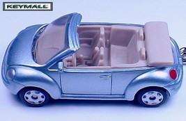 RARE KEY CHAIN RING VW NEW BUG BEETLE CONVERTIBLE CABRIOLET LIGHT BLUE 1... - $32.68