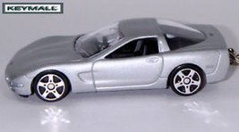 KEY CHAIN 97~2004 SILVER GREY/GRAY CHEVY CORVETTE C5 V8 PORTE CLE LLAVER... - $19.97