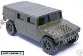 KEY CHAIN RING GREEN CAMO HUMMER H1 HUMVEE US ARMY/USMC/USA 4X4 NEW PORT... - $25.95