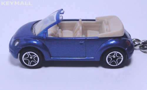 Primary image for KEY CHAIN DARK BLUE VW NEW BEETLE CONVERTIBLE CUSTOM KEY RING LTD EDITION 1/64 R