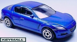 KEY CHAIN BLUE MAZDA RX-8 RX8 JAPAN ROTARY MOTOR CUSTOM KEY RING REALTOY... - $32.68