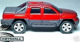 RARE HTF KEY CHAIN RED CHEVY AVALANCHE CHEVROLET PICKUP TRUCK SEE PHOTO ... - $29.95