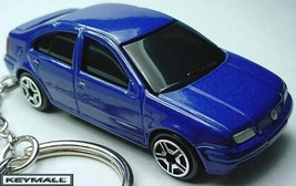 KEY CHAIN RING DARK BLUE VW JETTA BORA NEW CUSTOM KEY RING SPEED WHEELS ... - $32.95