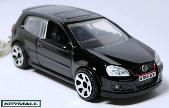 Primary image for KEY CHAIN BLACK VW GOLF GTi V VOLKSWAGEN NEW PORTE CLE SEE PHOTO BELOW 1/64 R