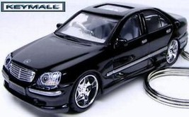 KEY CHAIN BLACK MERCEDES S430 S500 S600 S55 S CLASS CUSTOM DIECAST KEY R... - $44.95