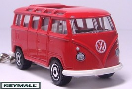 RARE KEY CHAIN RED VW TYPE 1 VOLKSWAGEN 21 WINDOWS SAMBA BUS VAN COMBI W... - $32.68