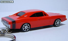 KEY CHAIN 69~70 REDDISH ORANGE BLACK DODGE CHARGER RT FAST AND FURIOUS L... - $19.98