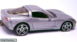 KEY CHAIN SILVER CHEVY CORVETTE C6 PORTE CLES LLAVERO LIMITED EDITION 1/... - $34.95