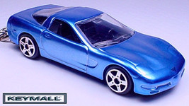 KEY CHAIN BLUE CHEVY CORVETTE C5 PORTE CLE LLAV... - $19.98