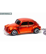 KEY CHAIN ORANGE METAL FLAKE VW BUG BEETLE PORT... - $19.98