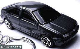 HTF KEY CHAIN BLACK VW JETTA VOLKSWAGEN CUSTOM KEY RING SEE PHOTO BELOW R - $38.95