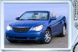 KEY CHAIN BLUE CHRYSLER SEBRING CONVERTIBLE NEW KEYTAG SCHLÜSSELANHÄNGER... - $9.95