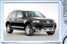 KEY CHAIN BLACK VW TOUAREG SUV KEYTAG PORTE CLE LLAVERO SCHLÜSSELANHÄNGE... - $9.95