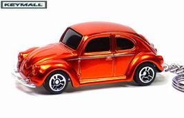 KEY CHAIN ORANGE METAL FLAKE VW BUG BEETLE PORTE CLE LLAVERO PORTACHIAVI... - $19.98