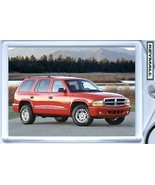 KEY CHAIN 1997/1998/1999/2000/2001/2002/2003 RED DODGE DURANGO KEYTAG PORTE CLE - €9,18 EUR