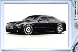 RARE KEYTAG TRIPLE BLACK CHRYSLER 300C KEY CHAIN RING PORTE CLE LLAVERO ... - $9.95