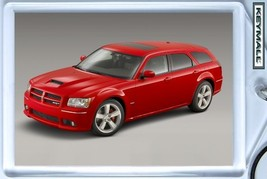 KEYCHAIN RED DODGE MAGNUM SRT8 KEYTAG LLAVERO P... - $9.95