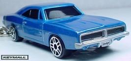 Rare Key Chain Ring 1969~1970 Dodge Charger Blue 69~70~71 R/T Porte Cle Mopar R - $19.98