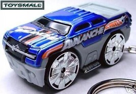 HTF KEY CHAIN BLUE/GREY CHEVY AVALANCHE CHEVROL... - $19.98