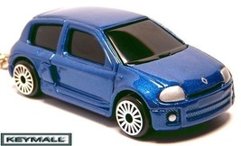 RARE KEY CHAIN BLUE BLACK RENAULT CLIO ll (TWO)... - $24.98