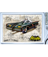 KEY CHAIN BATMAN & ROBIN 66 G BARRIS BATMOBILE KEYTAG POLICE PORTE CLE L... - $9.95