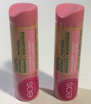 (2) eos Strawberry Sorbet 100 % Natural Shea Lip Balm Stick Organic 4g/ ... - $7.49