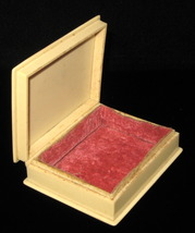 Edwardian Celluloid DuPont Pyralin Lidded Vanity Box Dresser Victorian 1... - $14.00