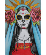 Santa Muerte ~ Haunted Adjustable Bracelet to the Great Goddess of Death - $59.00