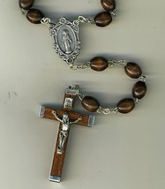 Rosary - Brown Round Wood Bead - 1014A/BROWN image 2