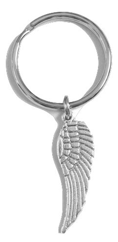 Primary image for Angel Wing Keychain with Single Angel Wing Charm Silver