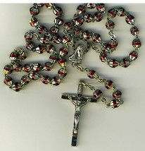 Rosary   red with capped beads 498r 003 thumb200