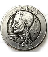 Frankstein 1934 Washington Quarter Dollars Hobo Token Free Shipping - $287,52 MXN