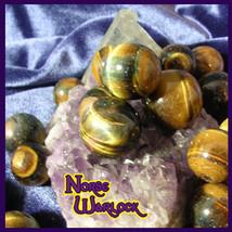 3 Tiger Eye Gemstone Sphere Crystal Balls Good Money Luck, Blessings, Pr... - $20.00